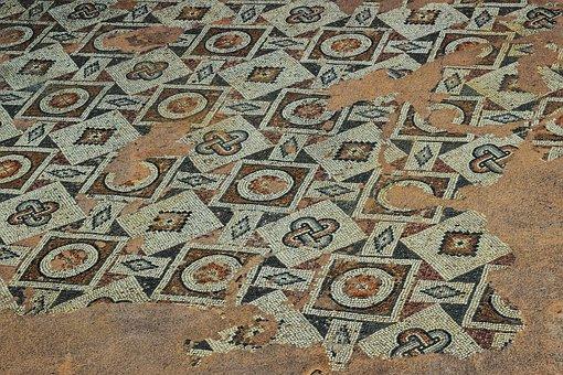 Cyprus, Paphos, Ayia Kyriaki Chrysopolitissa, Mosaic