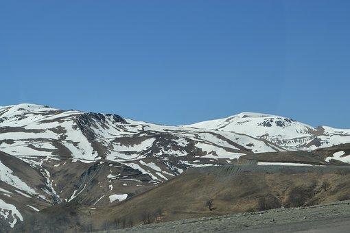 Mountain Peaks, Mountains, Snow, Journey, Sky, Scenic