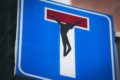 Dead End, No Road, Cross, End, Sign, Dead, Road, Symbol