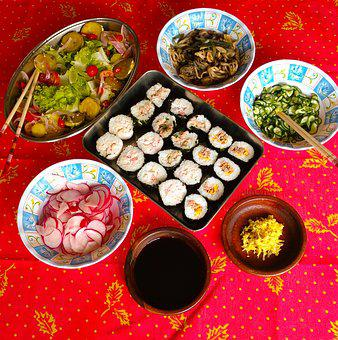 Japanese Food, Japanese, Oniguiri, Onigiri, Shimeji
