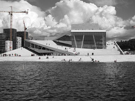 Oslo, Opera, City, New Buildings, The Centre Of, Norway