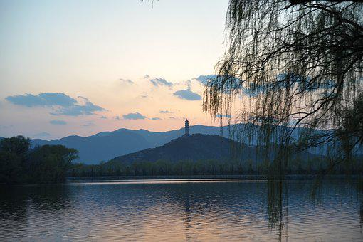 Yuquan Mountain, Sunset, Overlooking The