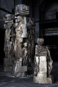 Debasish Bera, Sculpture, Pillers Of Silence