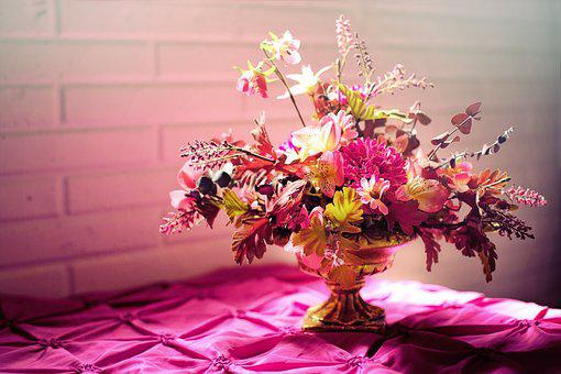 Flowers, Bouquet, Pink, Text Space, Bouquet Of Flowers