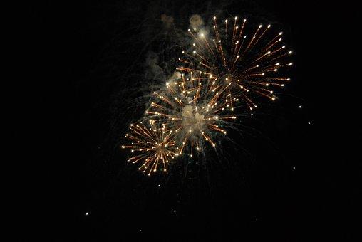 Fireworks, Night, Pyrotechnics, Darkness, Rockets