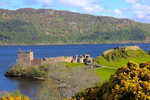 Urquhart Castle, Loch Ness, Scotland, Scottish, Ruins