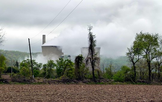 Power Plant, Steam, Smoke, Power, Electricity
