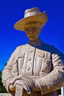 Statue, Soldier, Monument, Remembrance, Australia