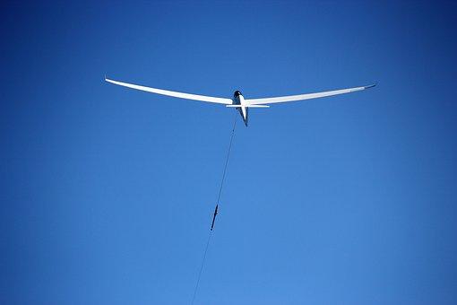 Glider Pilot, Start, Gliding, Aircraft Towing, Glider