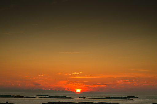 Sunset, Sky, Evening, Outdoor, Dawn, Sea, Ocean, Sweden