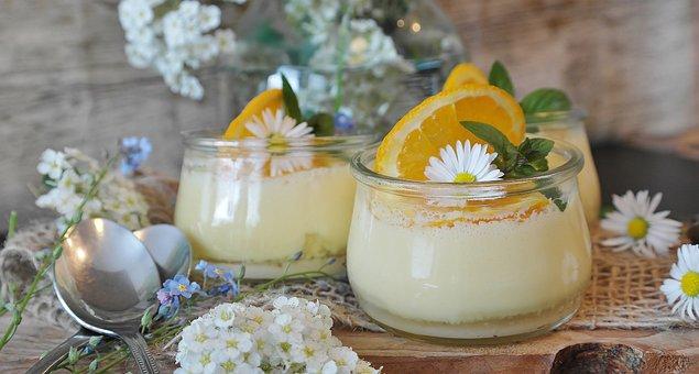 Cream, Orange Cream, Oranges, Dessert, Sweet Dish