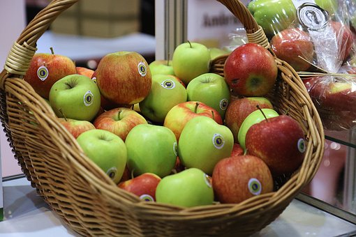 Apples, The Basket Of Apples, Fruit, Healthy