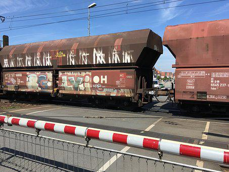 Train, Graffiti, Germany, Railway, Railroad