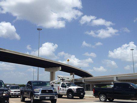 Sky, Highway, Trucks, Austin, Transportation