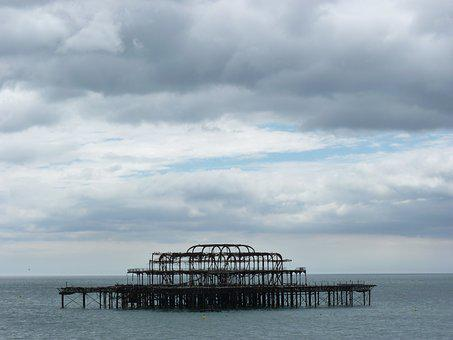 Brighton, Pier, Sea, Salazar, Coast, Water, Stellas