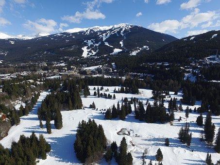 Whistler, Drone, Canada, Mountains, Whistler Blackcomb