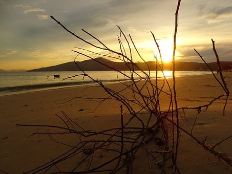 Eventide, Dusk, Twilight, Horizon, Landscape, Beach