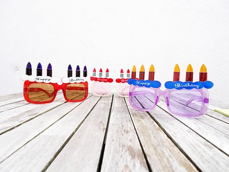 Birthday, Glasses, Happy Birthday, Birthday Greetings