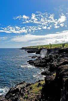 Reunion, Cliff, Water, Nature, Blue, Rock, Sky
