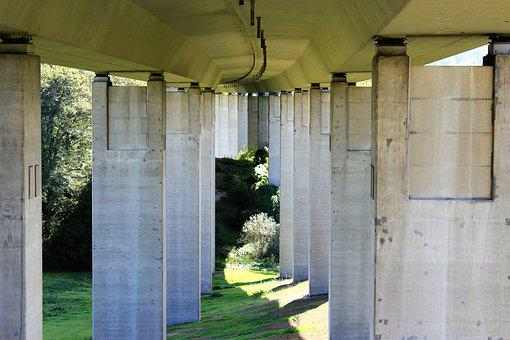 Highway, A44, Bridge, Breuna, Northern Hesse
