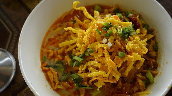 Khaosoi, Recipe, Curried, Noodle, Soup, Chicken, Spicy