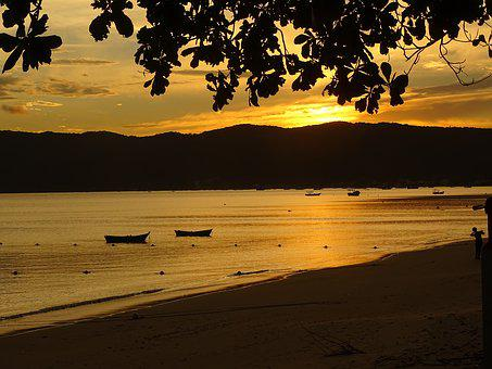 Dusk, Twilight, Mar, Beach, Landscape, Sunset, Horizon