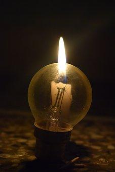 Bulb, Candle, B, Light, Lamp, Idea, Design, Lightbulb