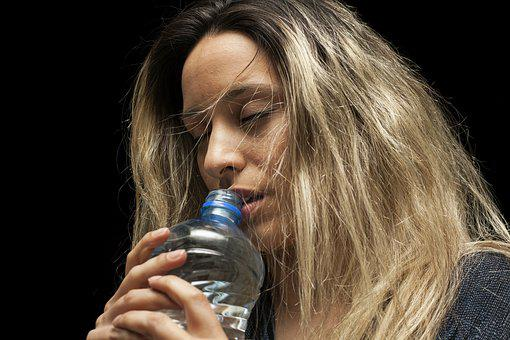 Model, Girl, Water, Bottle, Thirst, Run, Sports