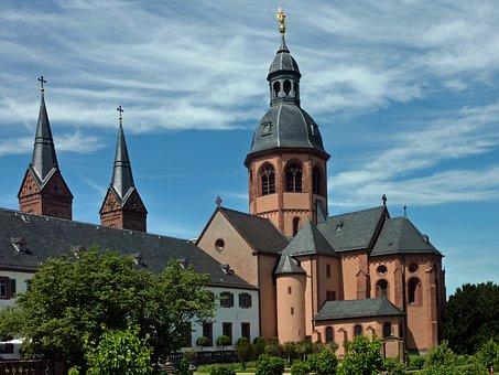 Basilica, Seligenstadt, Monastery, Monastery Garden