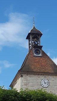 Dial Lunar, Clock Lunar, Moon, Bell Tower, Church