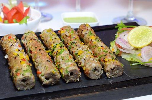 Chicken Seek Kebab, Mugalai, Food