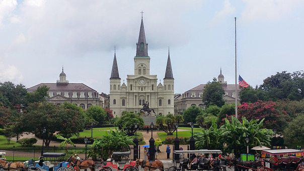 French, Quarter, New, Orleans, Jackson, Square