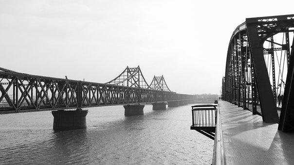 Bridge, Yalu River, North Korea