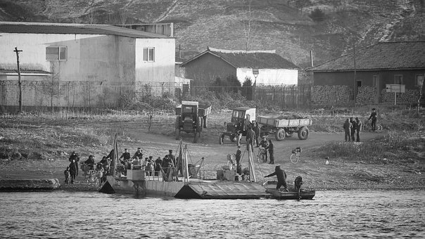 Poor People, Yalu River, North Korea