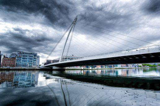 Samuel Beckett Bridge, Dublin, Ireland, Bridge