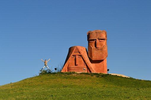 Stele, Nagorno-karabakh, Stepanakert