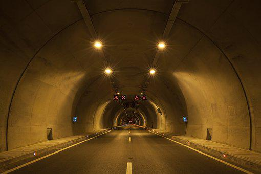 Road, Tunnel, City, Travel, Car, Ribbon, Traffic