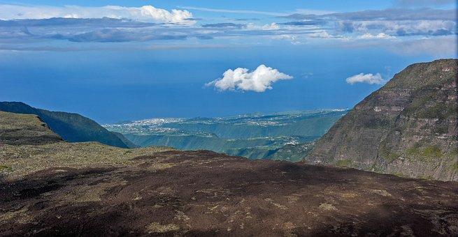 Reunion, Coast, Volcano, Volcanic Rock, Island