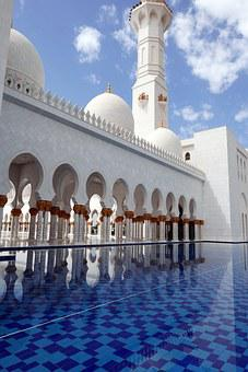 Abu Dhabi, Sheikh Zayed Mosque, Architecture