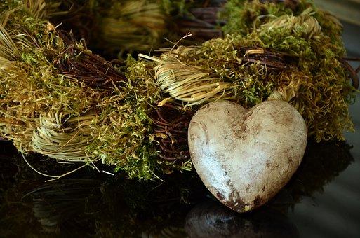 Heart, Wreath, Decoration, Autumn, Natural Wreath