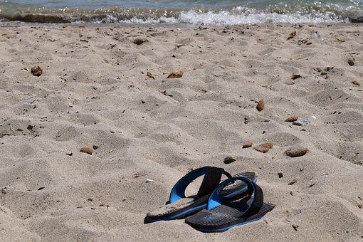 Sea, Holiday, Beach, Badeurlaub, Beach Traipse, Slipper