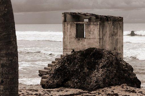 Abandoned, Alone, Beach, Broken, Building, Coast