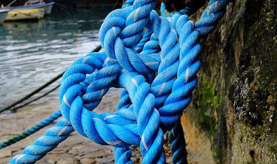 Rope, Blue, Dock, Boat, Sea, Anchor, Knot, Fishermen