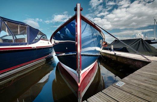 Blue, Boat, Dock, Water, Sea, Ocean, Travel, Ship