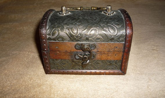 Box, Treasure, Wooden, Antique, Vintage, Chest
