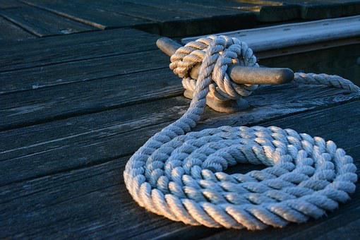 Rope, Line, Dock, Maryland, Coast, Chesapeake Bay