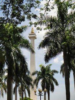 Jakarta, Indonesia, National, Monument, Cityscape