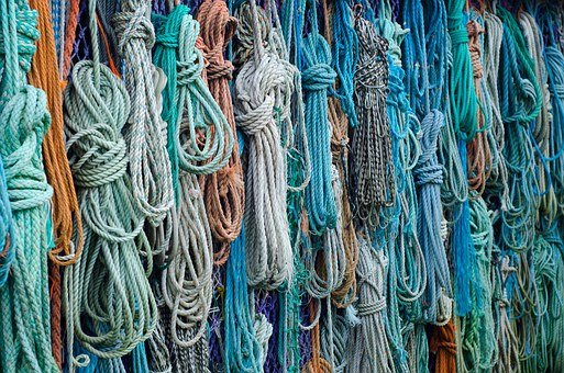 Ropes, Fishing, Beachcombing, Found, Colorful, Knots