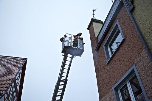 Turntable Ladder, Fire, Rescue, Fire Escape
