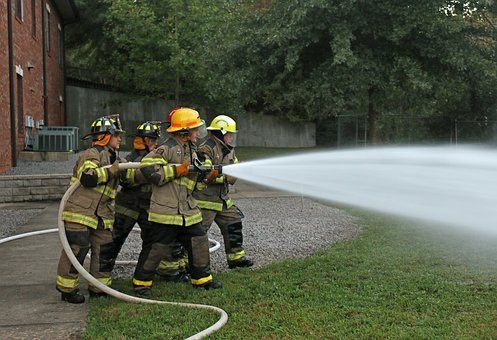 Fire Fighters, Hose Training, Firefighter, Training